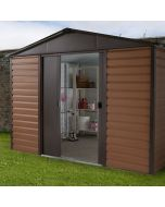 Woodview Shiplap Metal Shed WGL 10x12