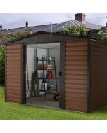 Woodview Shiplap Metal Shed WGL 8x6